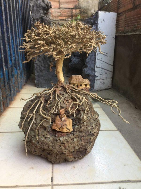 Cách làm sạch gỗ lũa an toàn 4