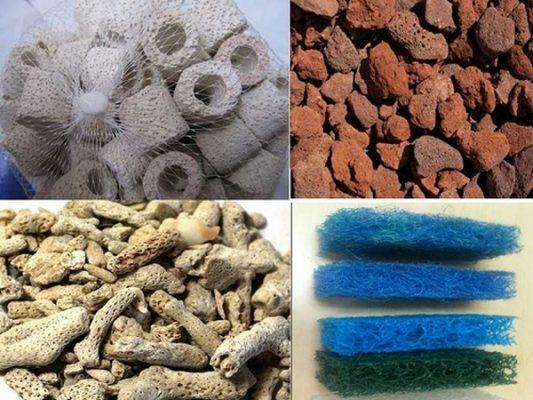 Tổng hợp các loại vật liệu lọc bể cá 1 Tổng hợp các loại vật liệu lọc bể cá
