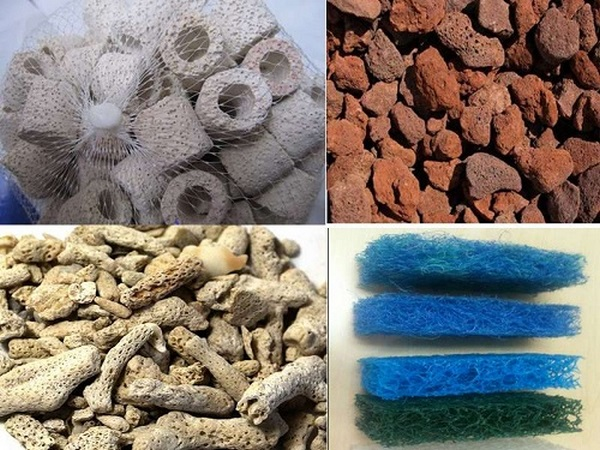 Tổng hợp các loại vật liệu lọc bể cá 1