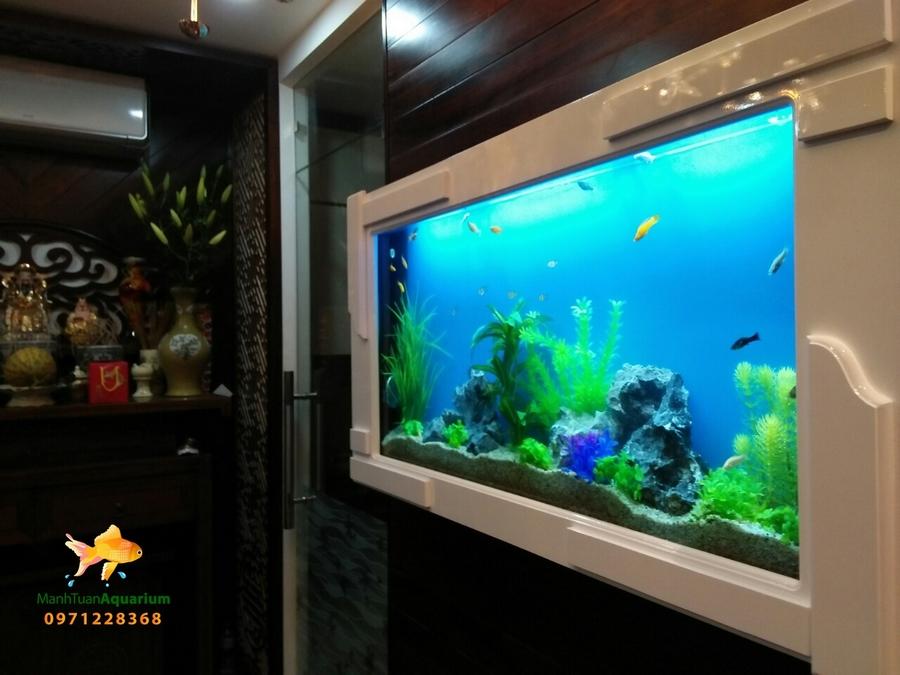 Bể treo tường thủy sinh cây nhựa ch2o ngôi nhà của bạn